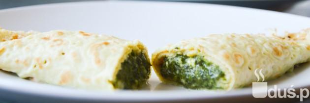 Naleśniki ze szpinakiem i serem (bezglutenowe)