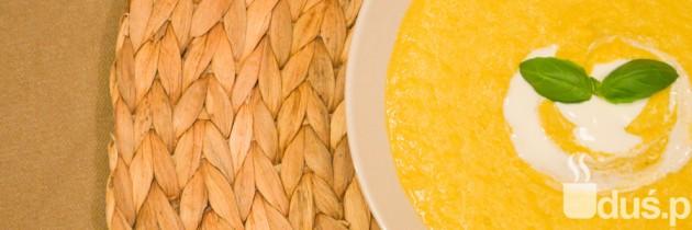 Zupa krem z kukurydzy z fetą