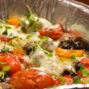Warzywa z grilla z mozzarellą