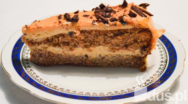 Bezglutenowy tort kajmakowy