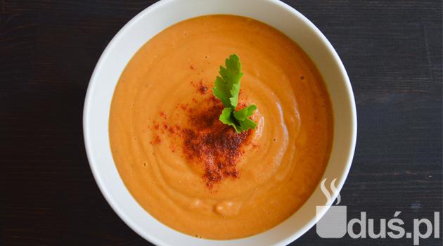 Zupa krem z soczewicy i suszonych pomidorów