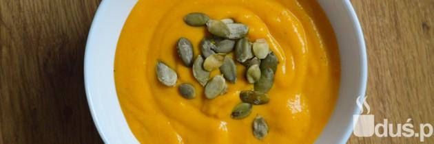 Zupa krem z dyni z mleczkiem kokosowym (wegańska, bezglutenowa)