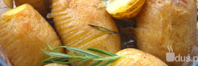 Pieczone ziemniaki z rozmarynem (hasselback)